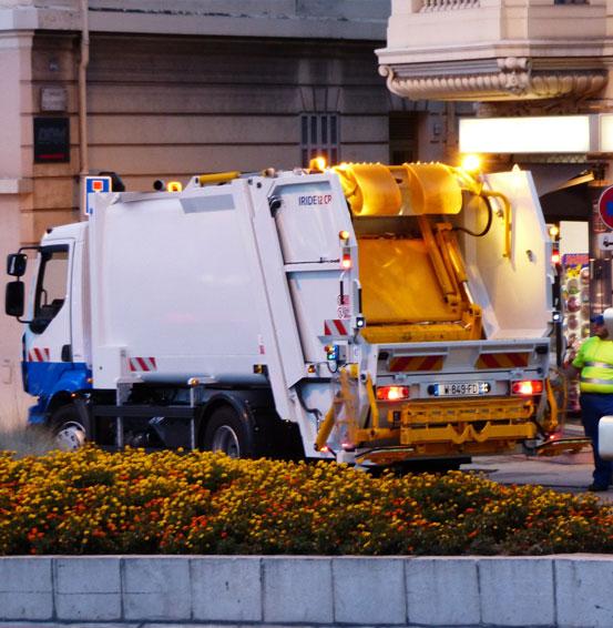 rubbish disposal services truck
